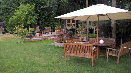 Tonge Barn: great place to chill in the garden