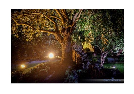 Ponzano Romano, Italien: Entrata abbazia notturna