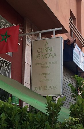 La Cuisine de Mona: le panneau