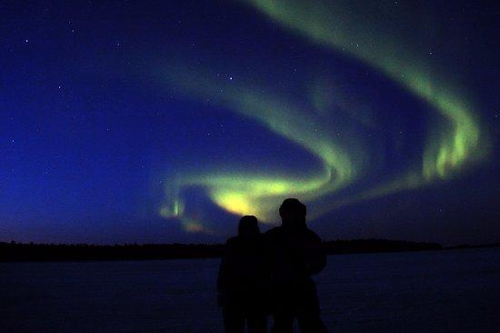 Nellim Wilderness Hotel: aurora boreale 28.03.2016