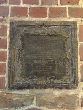 "Church of St. Mary (Mariakyrkan): Behind this wall plate inside the church, the astronomer Tycho Brahe's first born child ""Kirstin"