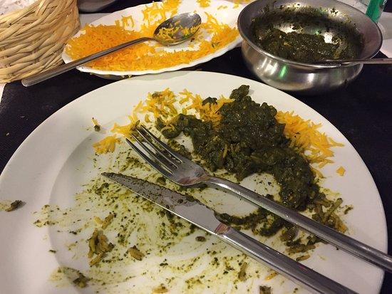 Krishná Indian Restaurant: Chicken Sag - plate cleared!