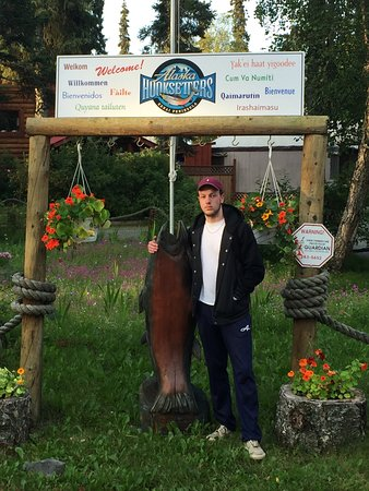 Russell Fishing Company : My son at the lodge