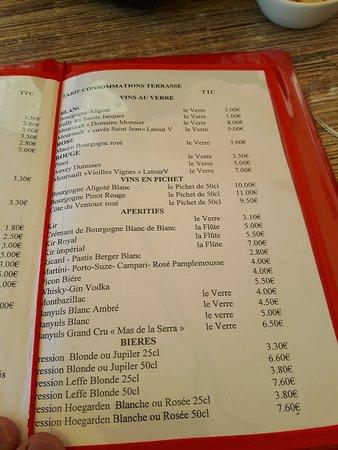 Carte Bourgogne Blanc.Extrait De La Carte Picture Of Hotel Restaurant Les Arts