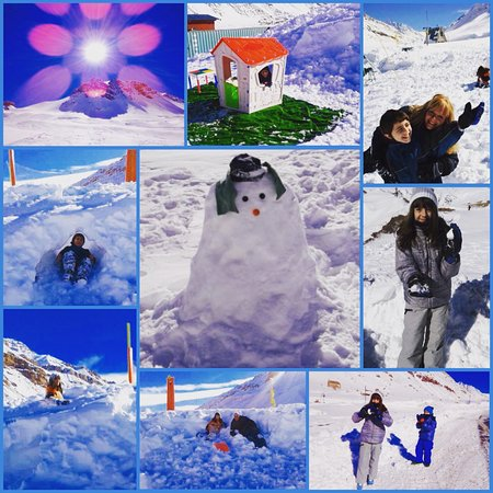 Parque de Nieve Los Puquios: Hermoso parque de nieve ideal para los chicos!!!!