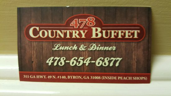 Byron, Geórgia: New name of Martha's Country Buffet