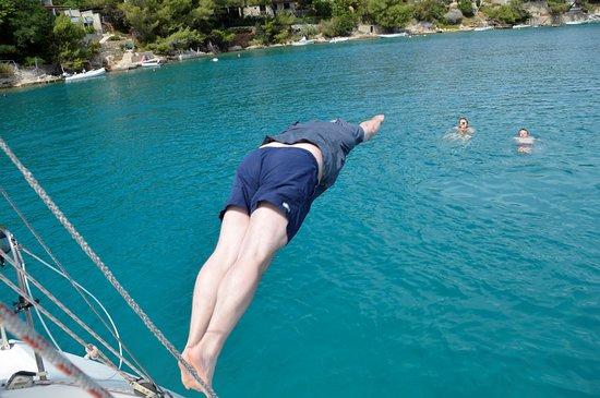 Dalmatia, Kroatien: Swimming in crystal blue waters