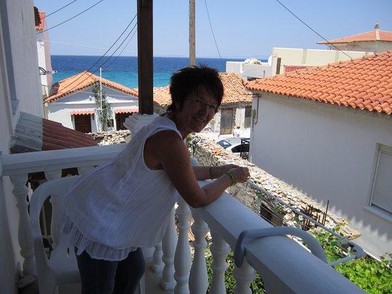 Pension Eleni Sinahiri: Blick vom Balkon