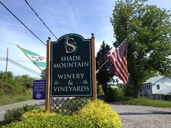 Middleburg, PA: Shade Mt Winery flag out front