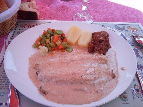 L'Auberge Des Trois Ponts: truite sauce au savagnin