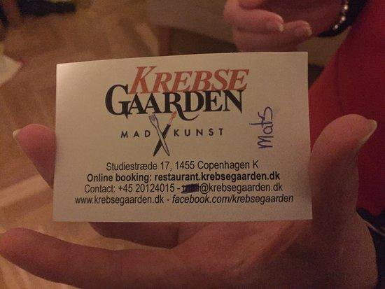 Restaurant Krebsegaarden: An absolute must