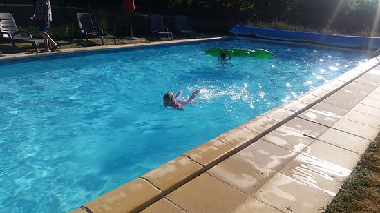 Savigne, France: The pool, early evening