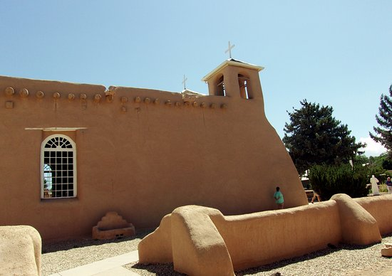 San Francisco de Assisi Mission Church: Side view of the church from the south