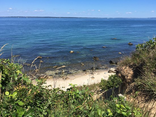 West Tisbury, MA: Beach view from the white trail.