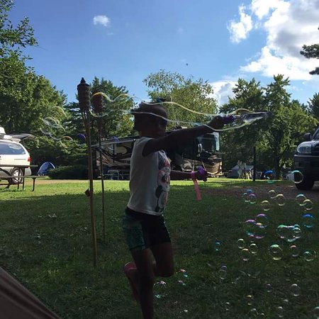 Yogi Bear's Jellystone Park Camp-Resort: Campsite bubble fun! See...lots of extra space!