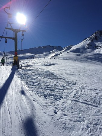 Saint Arnaud, Nowa Zelandia: Heading up to intermediate on T-bar