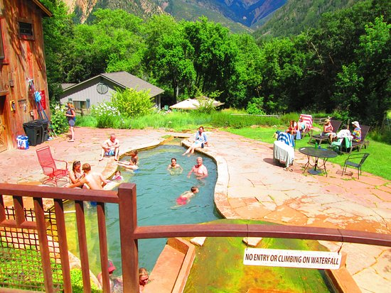 Avalanche Ranch: the lower pool is largest, and the most fun for frollicking
