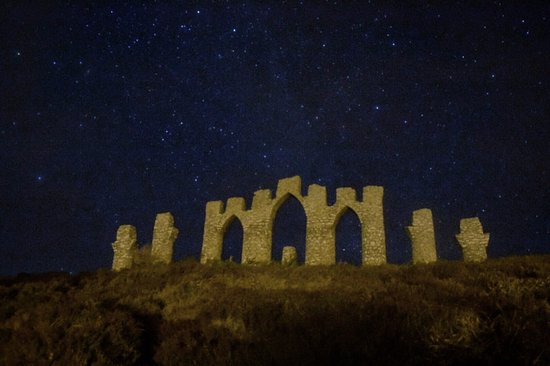Fyrish Monument with stars in the background
