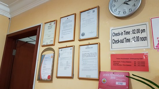 Lipis Plaza Hotel: Certifications