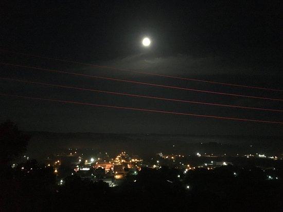 Burkesville, KY: Glorious full moon from balcony.