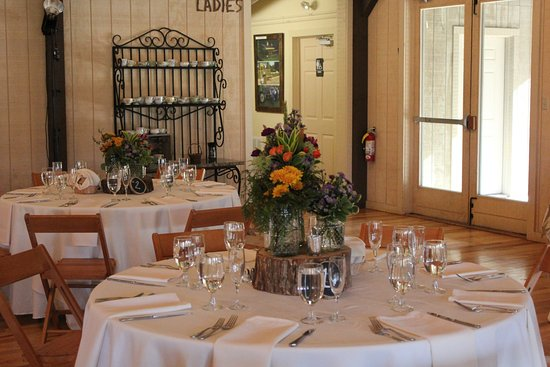 The Farm Cabins & Cottages: The place settings the bride chose- one of many choices