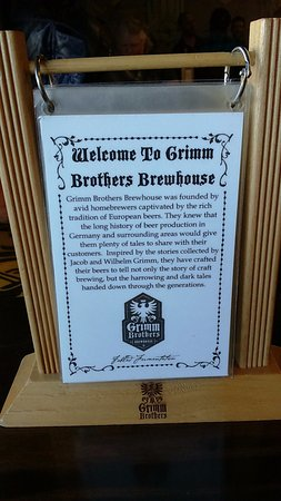 Grimm Brothers Brewhouse: welcome