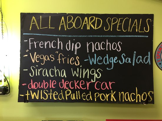 All Aboard Diner: Today's specials -- not just for kiddies!