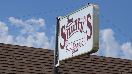 Abilene, KS: Snuffys sign on Bld