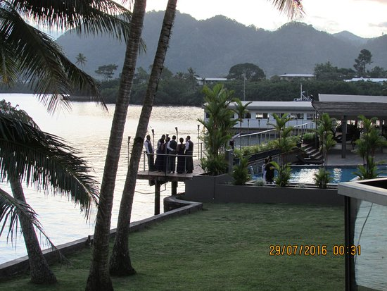 Lami, Fiji: Looking out from the balcony