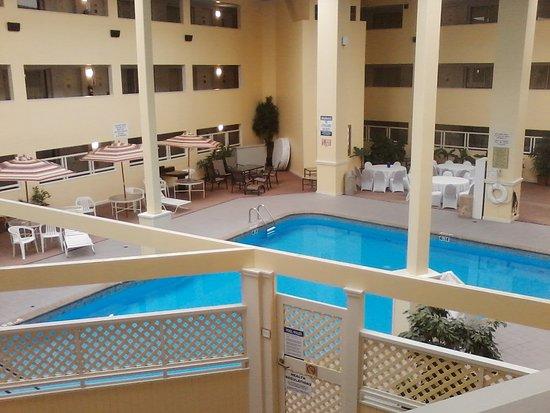 Bedford Plaza Hotel: Interior pool of amazing lobby area.