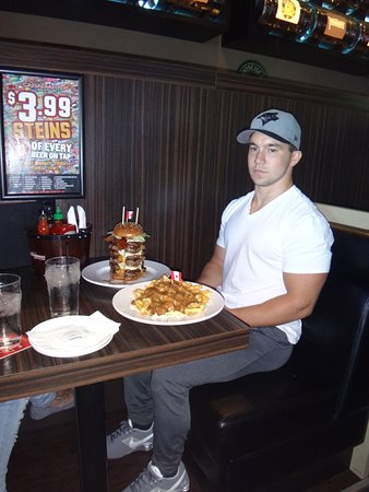 Lake Okanagan: The Reader Challenge at the Canadian $39.99 or free if you can finish the burger and the poutine