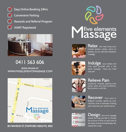 Brochure  Picture Of Five Elements Massage Brisbane  Tripadvisor
