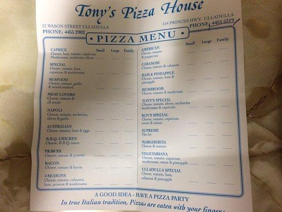Tonys pizza house