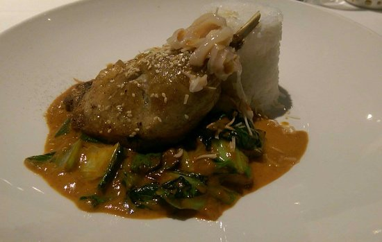 Charlestown, Australia: Thai Duck Curry with lychee & jasmine rice amazing!!!