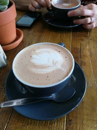 Northamptonshire, UK: Excellent Mocha made with 82% Madagascan Dark Chocolate. Superb.