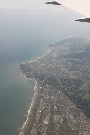 Cape Taito: タイに行った時、上空から(左端)