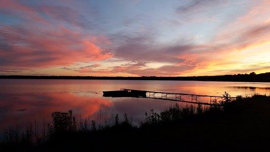 Trout Lake, MI: Sunset