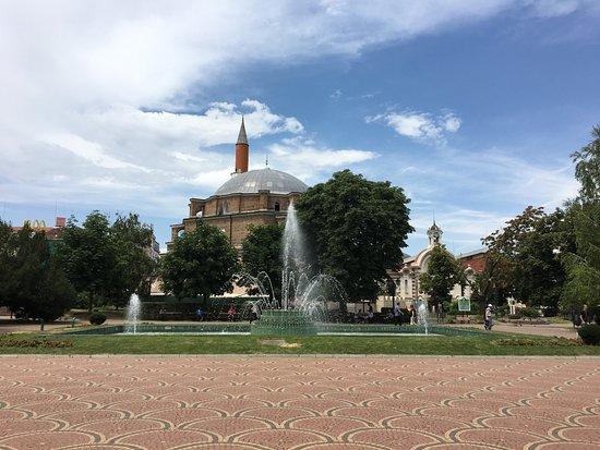 Bagni Termali Sofia : Veduta dai bagni termali foto di banya bashi mosque sofia