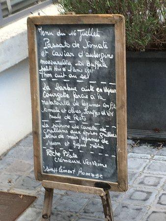 Avize, Prancis: Exempel på meny från en av kvällarna