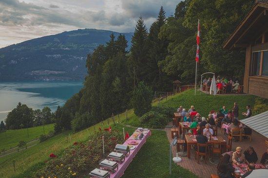 Leissigen, Switzerland: Terrasse