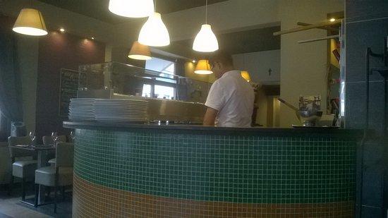 Mortsel, Belgia: de chef aan het werk
