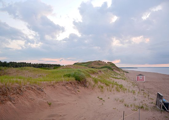 Just before sunset at Brackley Beach, PEI.