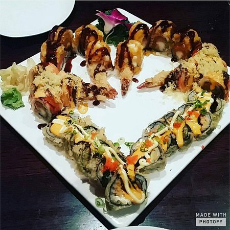 Sake Asian Fusion: The BMW roll, the Bear Roll, and the Sexy Grill Roll.