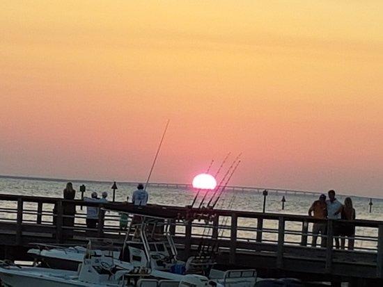 Village of Baytowne Wharf : What a beautiful sunset at Baytowne Warf Village