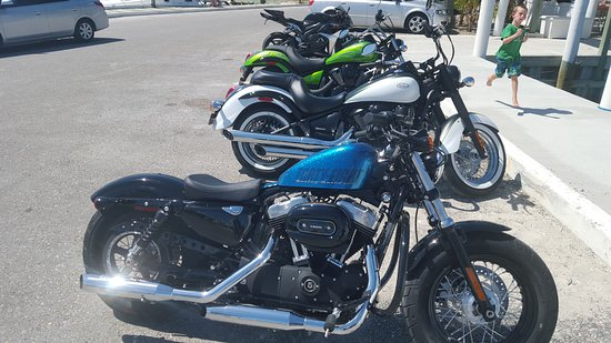 RideTCI Motorcycle Tours: HD 48 and some of the other bikes