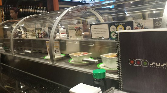 Sushi +  Rotary Sushi Bar: Covered conveyor, a nice touch