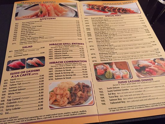 Four Seas Asian Resturant Menu