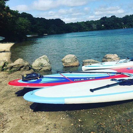 Osterville, MA: Picture of the boards after the first paddle trip on Mills Pond