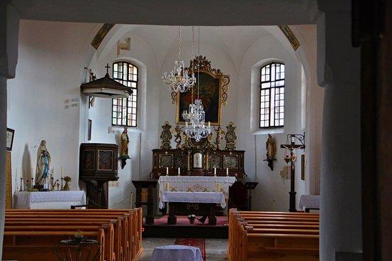 Srni, Republik Ceko: Interiér kostela Nejsvětější trojice v Srní