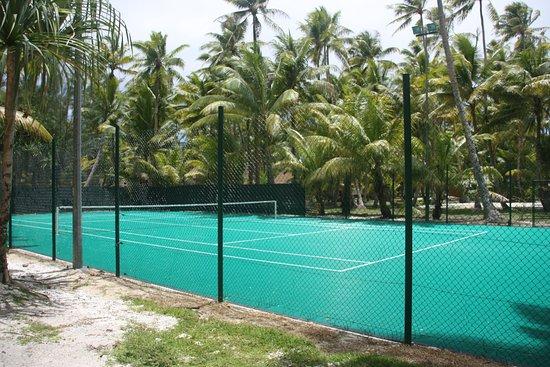 Bora Bora Pearl Beach Resort & Spa: Une partie de tennis au milieu des palmiers?